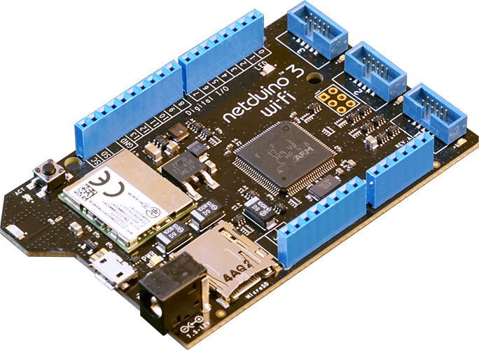 ISO View of Netduino 3 WiFi model